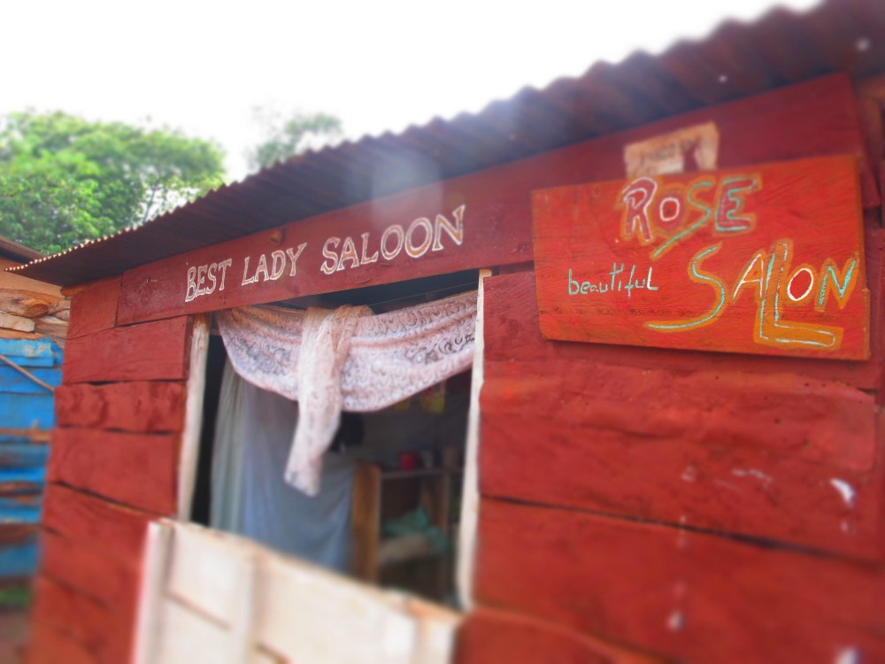 hair-braiding at the Lady Saloon (but no beverages)