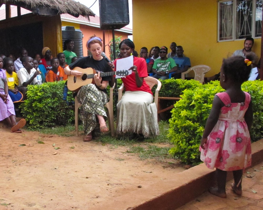 singing in Lusoga for Student's Day
